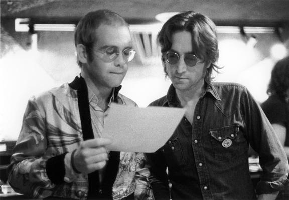 John Lennon and Elton John, 1974