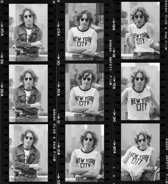John Lennon Contact Sheet, 1974