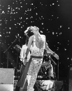 Mick Jagger On Stage - Flower Petals, NYC, 1972
