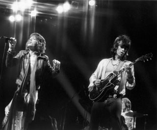 Mick & Keith On Stage. NYC, 1972