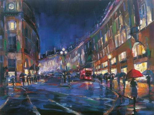 London Rain – 36″x48″
