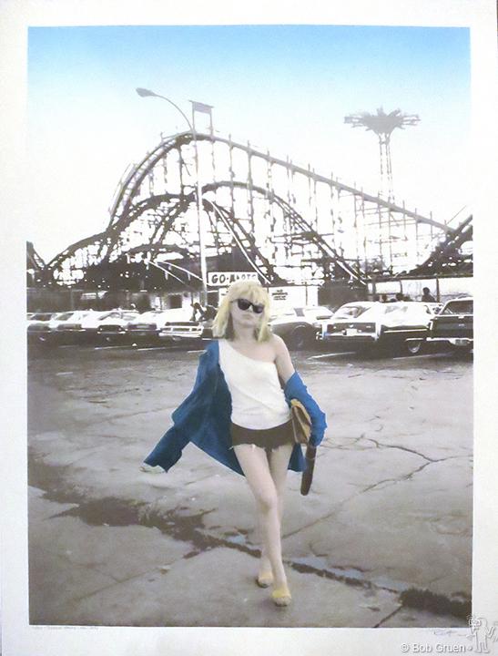 "Debbie Harry, Coney Island, NY, 1977 - 40""x54"" - Limited Edition Silkscreen Print"