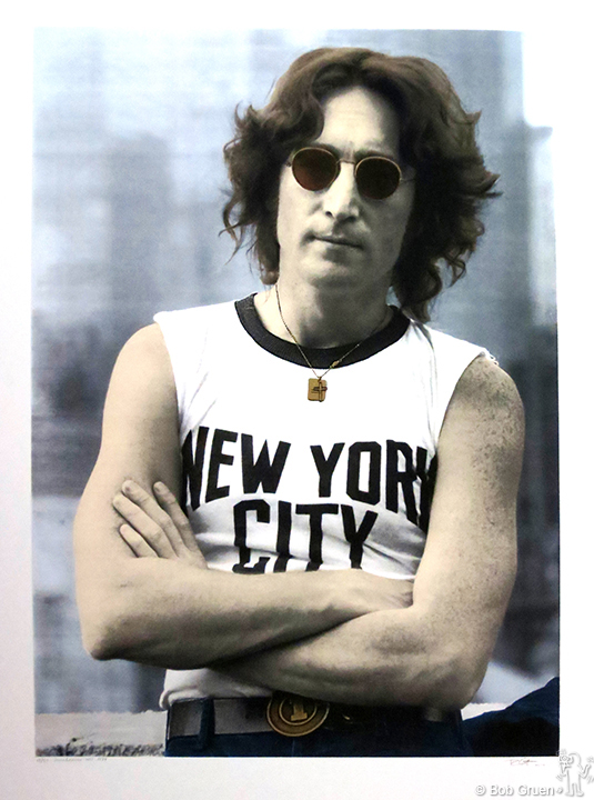 "John Lennon, NYC T-shirt, 1974 - 40""x54"" - Limited Edition Silkscreen Print"