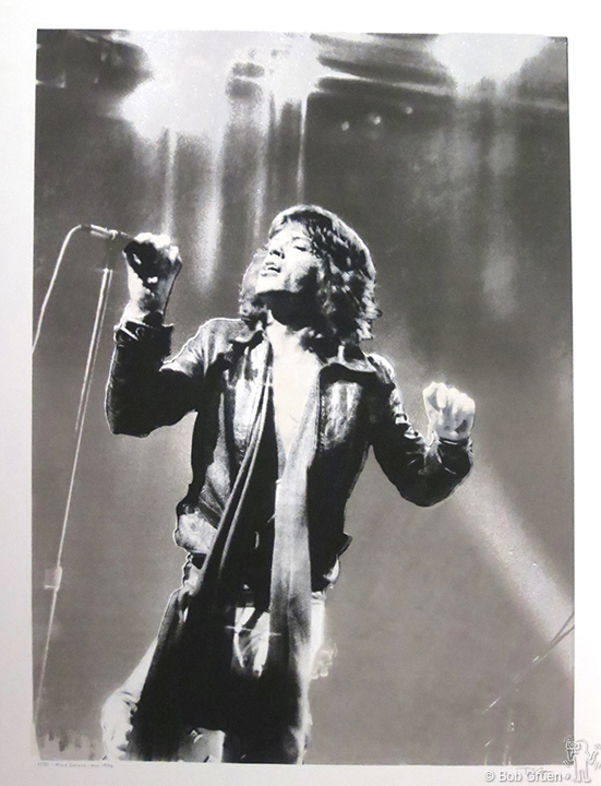 "Mick Jagger, MSG, NYC, 1972 - 39.5""x53"" - Limited Edition Silkscreen Print"