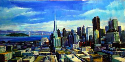 "City by the Bay 24""x48"""