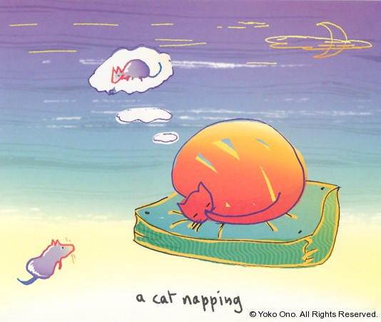 "A Cat Napping 9.75"" x 11.5"""