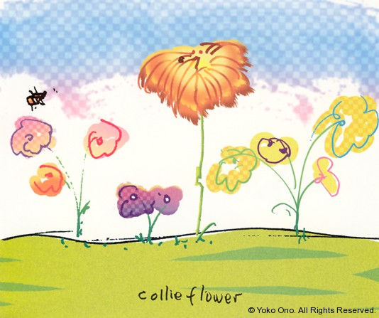 "Collie Flower 9.75"" x 11.5"""
