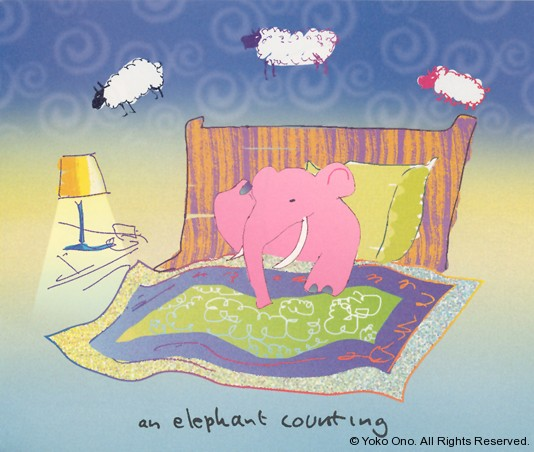"An Elephant Counting 9.75"" x 11.5"""