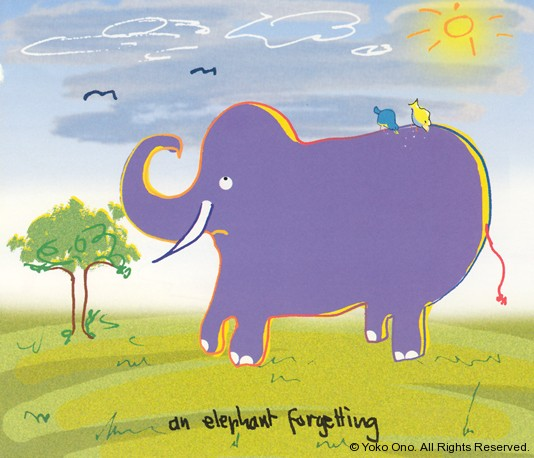 "An Elephant Forgetting 10"" x 10.75"""