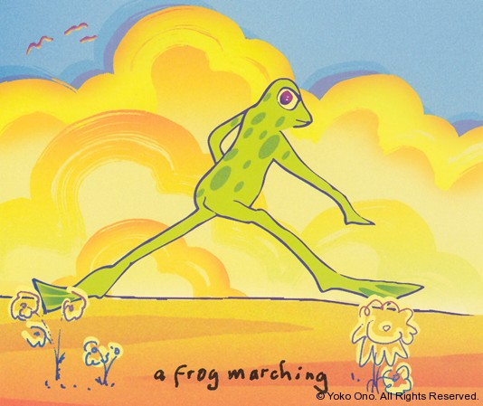 "A Frog Marching 10"" x 11.5"""