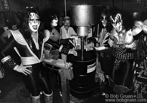 Kiss and Stan Lee, NYC, 1977