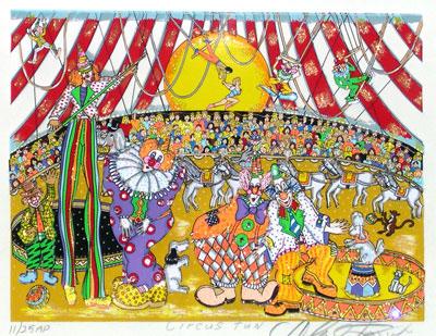 """Circus Fun 9"""" x 7"""" RARE EDITION"""