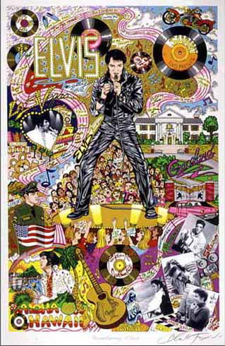 "Remembering Elvis 15"" x 23"" Rare Edition"