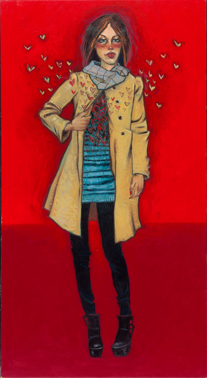 "She Gives Her Heart Away 39"" x 16.5"""
