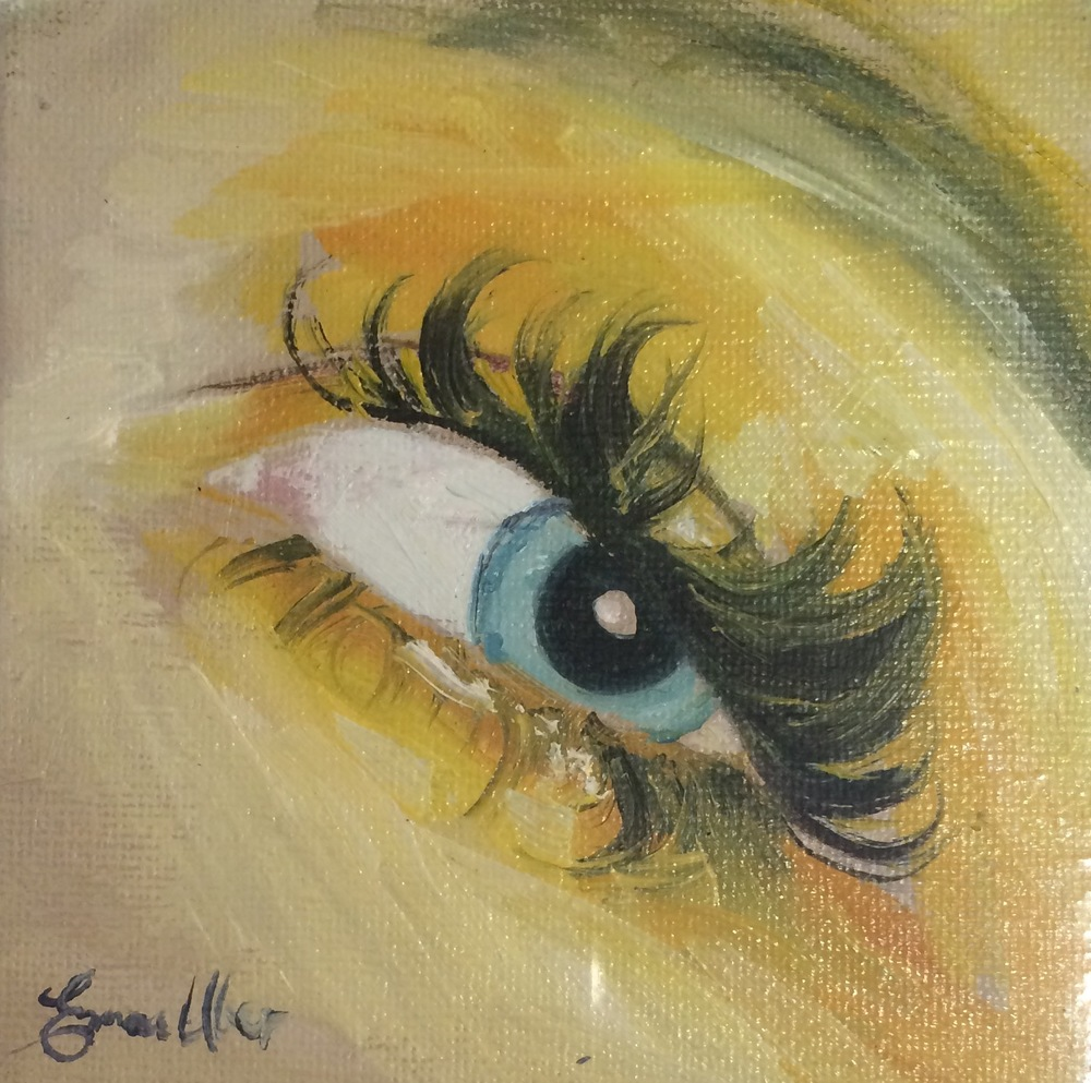 "Lemon Eye 4""x4"""