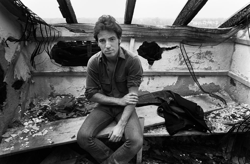Bruce Springsteen Burned House Sitting on Bed 1978
