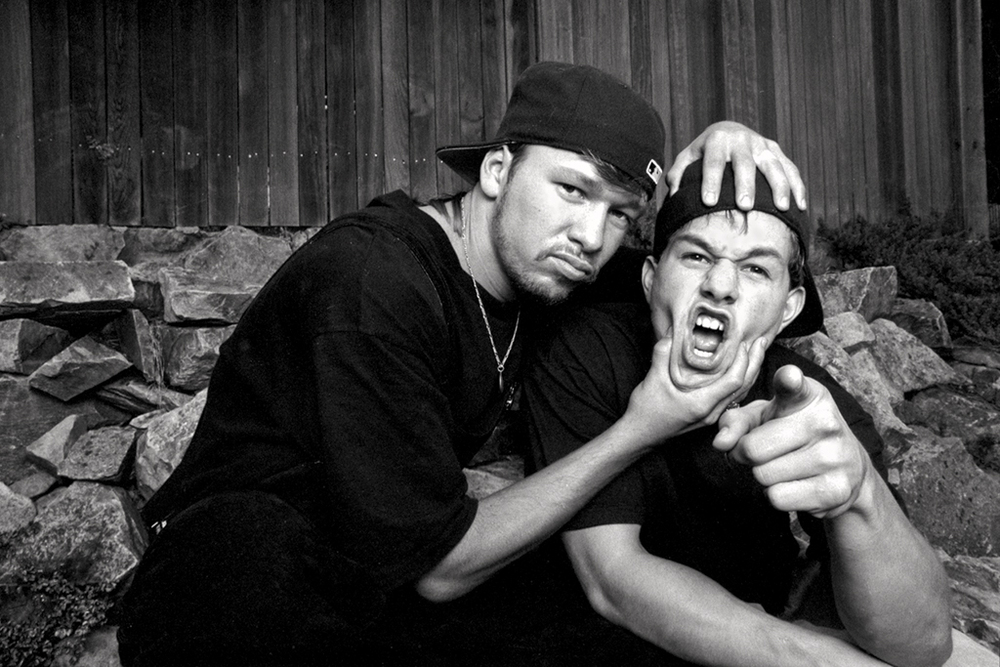 Marky Mark and Donnie Wahlberg 1991