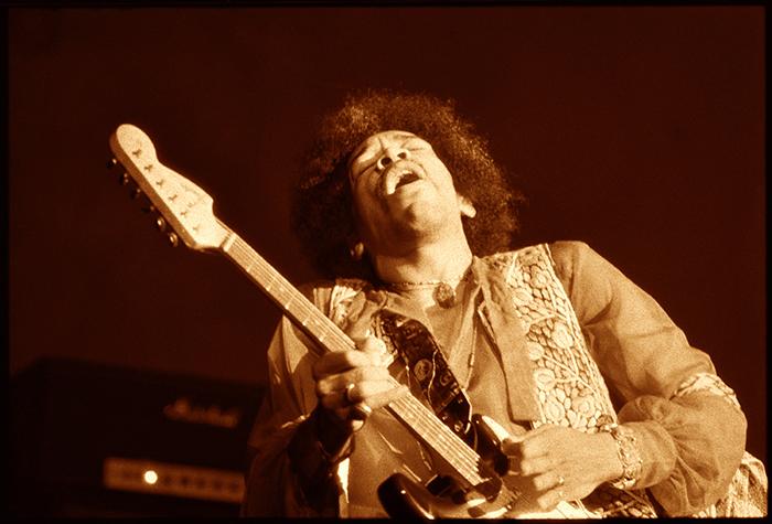Jimi Winterland 1968 Sepia