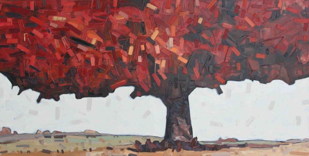 "Under Tree #3 - 30""x 60"""