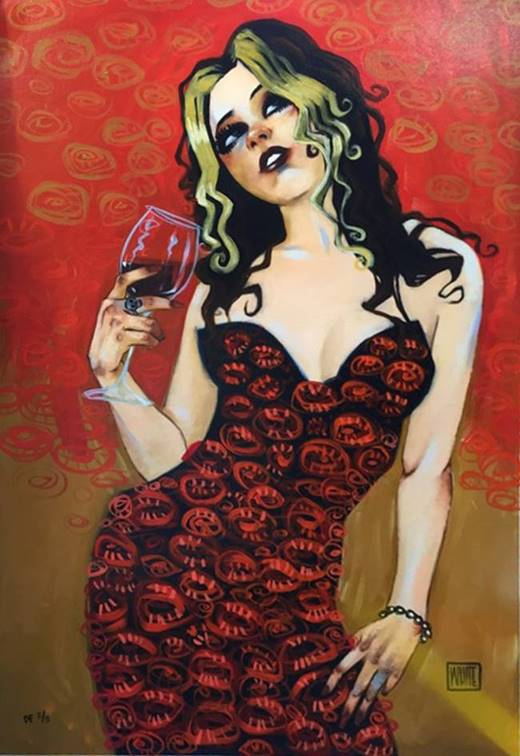 "Lovesick at First Fond Song - Deluxe Edition Hand-Painted by Todd White   36"" x 24"""