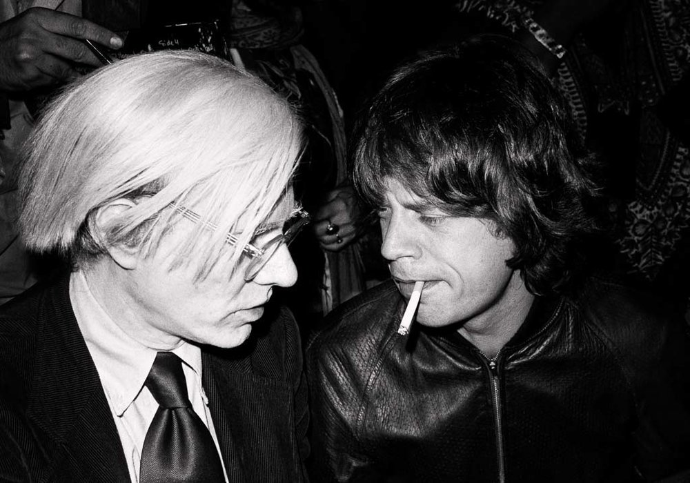 Andy Warhol and Mick Jagger 1977