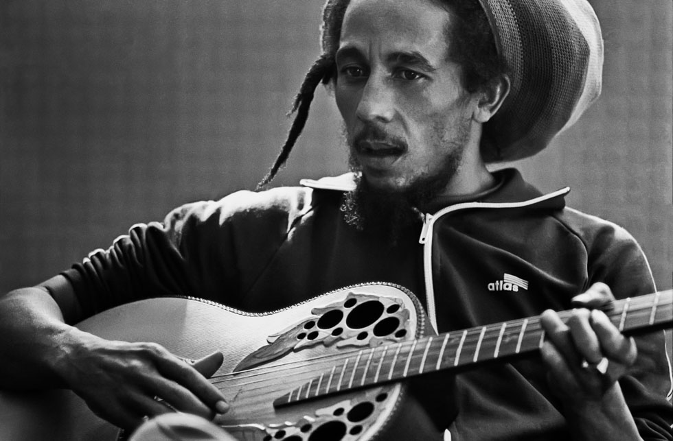 Bob Marley and Guitar 1980