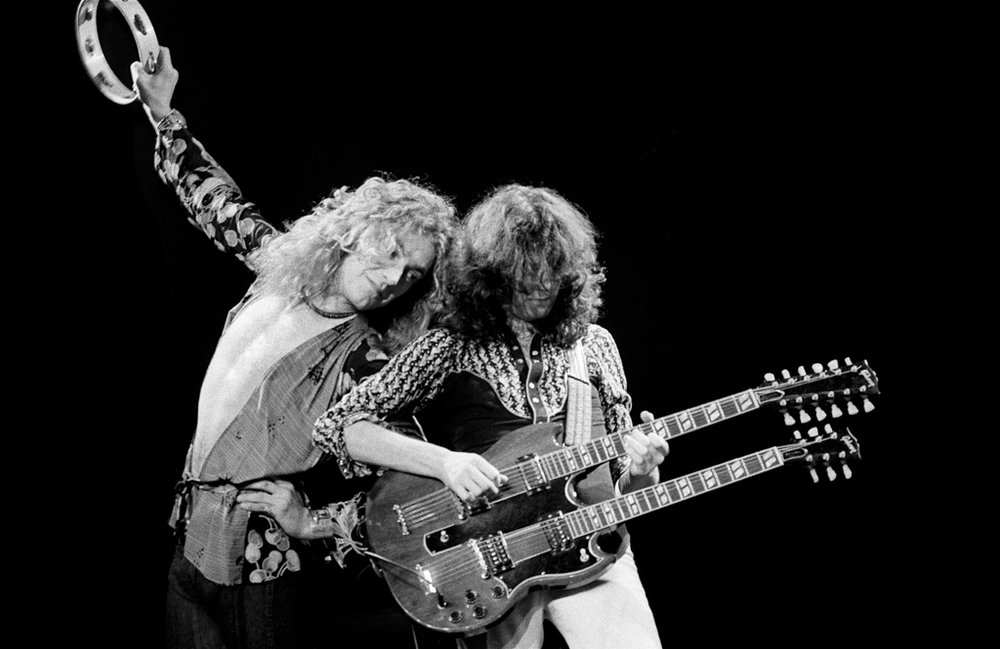 Robert Plant, Jimmy page, Led Zeppeling 1975