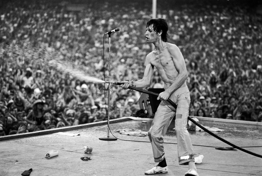 Rolling Stones: Mick with Hose 1978