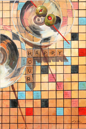 "Happy Hour 20"" x 30"""