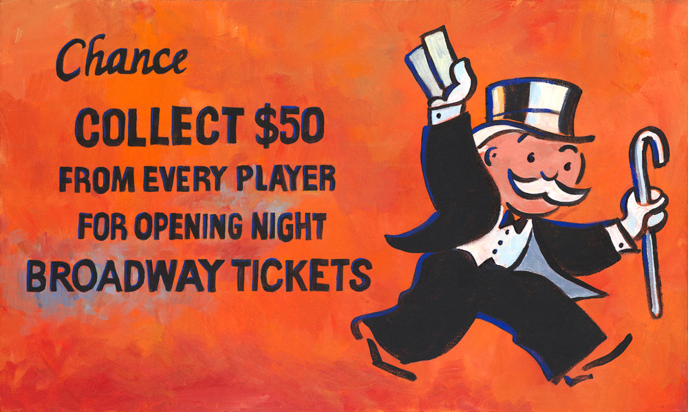 "Broadway Tickets 30"" x 15"""