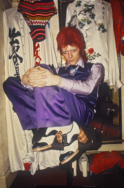Bowie Backstage Purple Trousers 1973