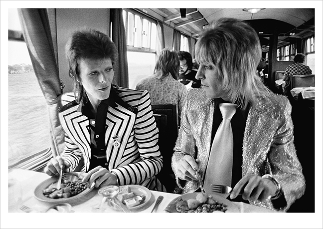 Bowie & Ronson Lunch On The Train to Aberdeen, UK 1973