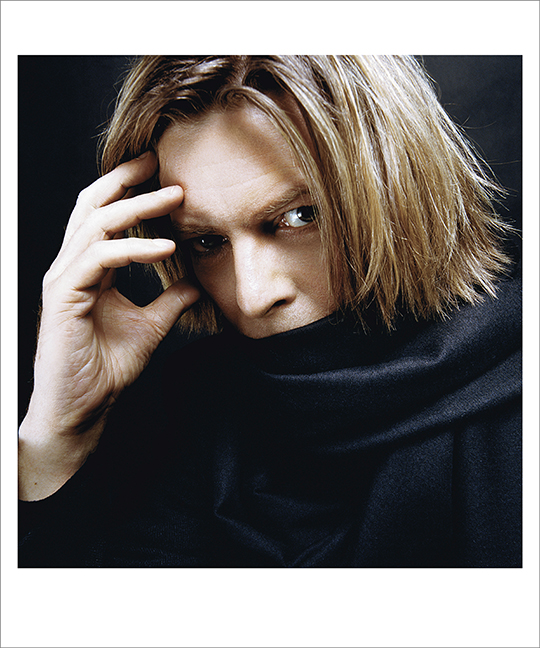 Bowie With Black Scarf, NYC 2002