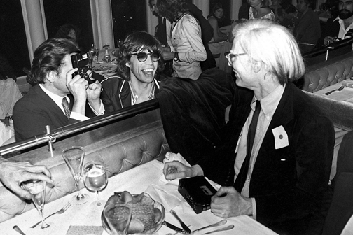 Mick Jagger and Andy Warhol, New York 1976