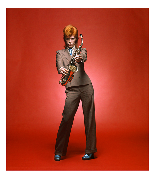 Bowie, Sax Full Length Colour, London 1973