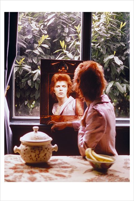 Bowie In Mirror, Haddon Hall, UK 1972, 4060