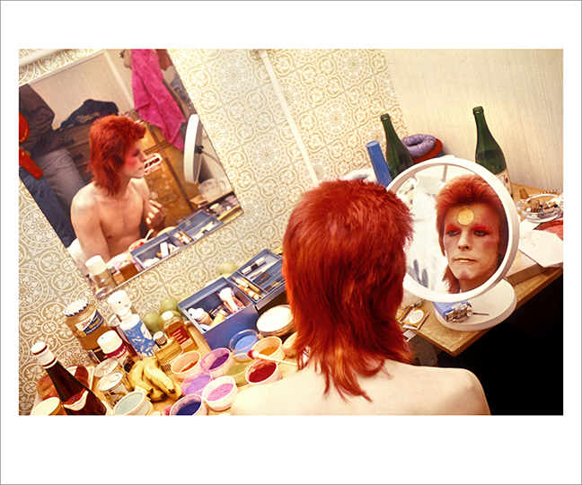 Bowie Make Up Circle Mirror, Scotland 1973