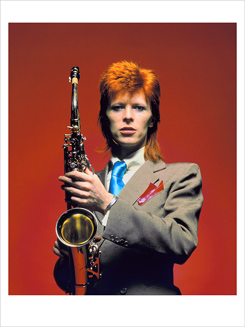 Bowie Sax C U Color 1, London 1973