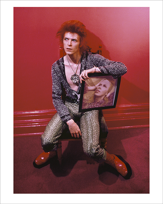 Bowie With Hunky Dory Album Cover,