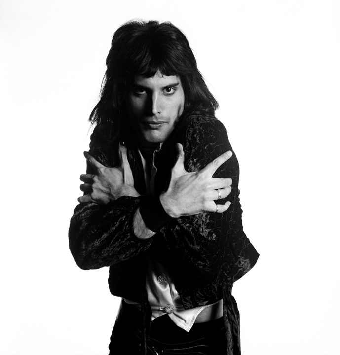 Freddie Mercury Holding Himself, London, 1974