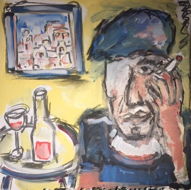 "So Long Marianne - Leonard Cohen on Hydra, 1964 16"" x 16"""
