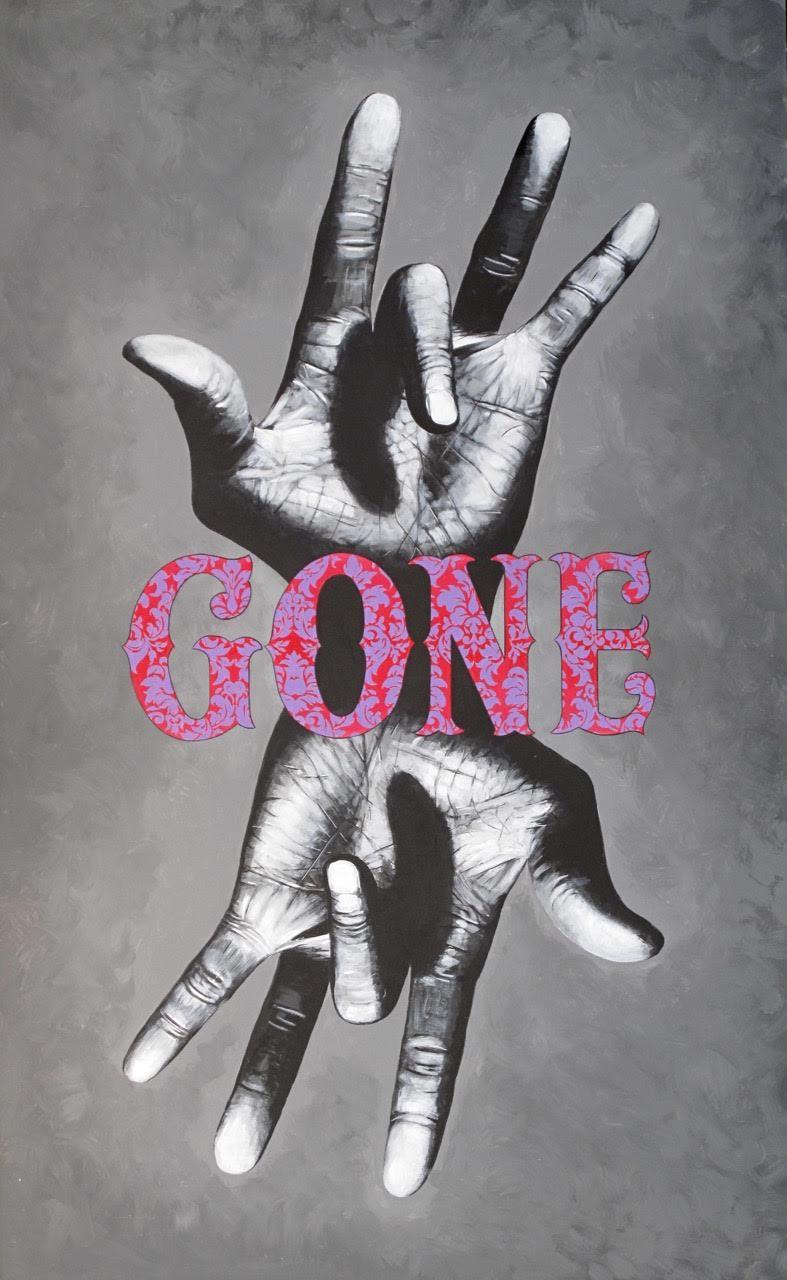 """Gone 46"""" x 62"""""""