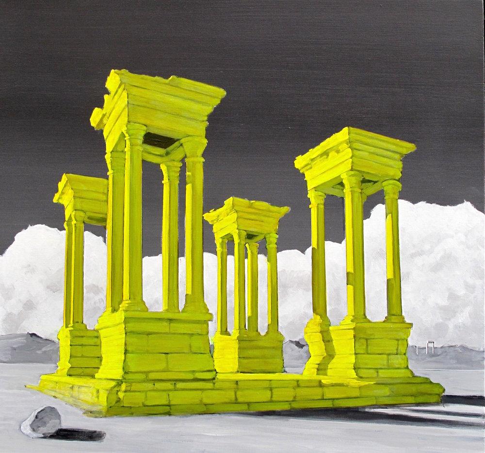 "Palmyra Redux #2 30"" x 28"""