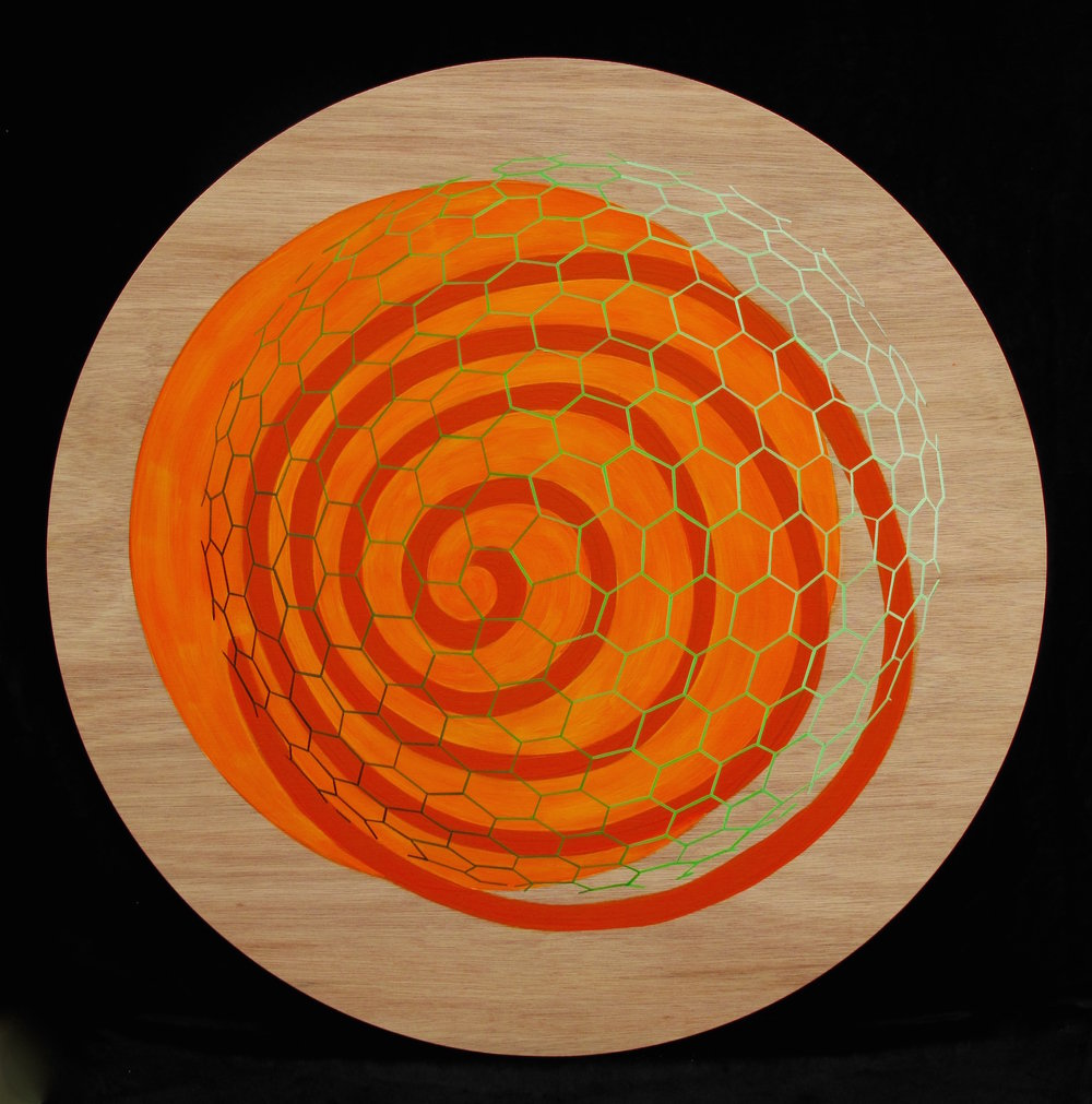 "Unregistered (Orange and Green) 45"" Dia."