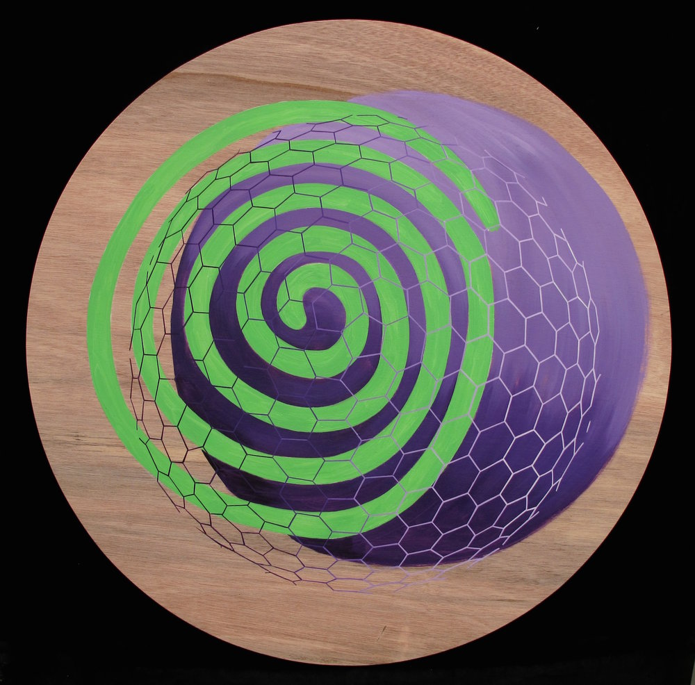 "Unregistered (Violet and Green) 45"" Dia."