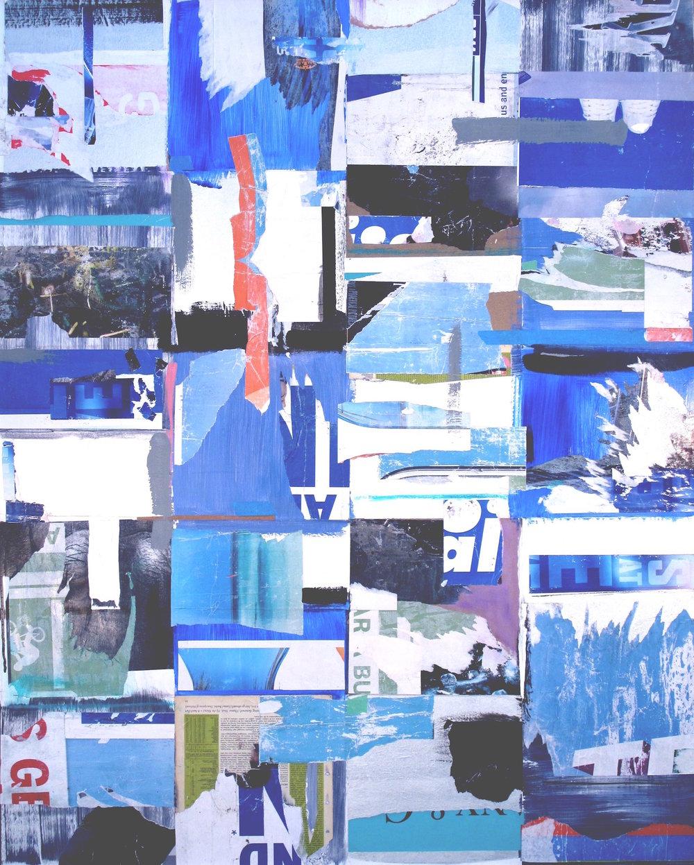 "Azul 48"" x 60"""