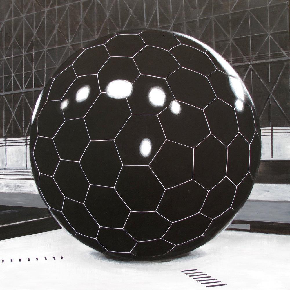 """Black Ball 36"""" x 36"""""""