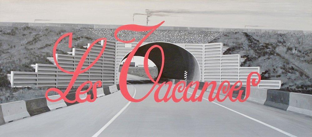 """Les Vacances  66"""" x 29.5"""""""