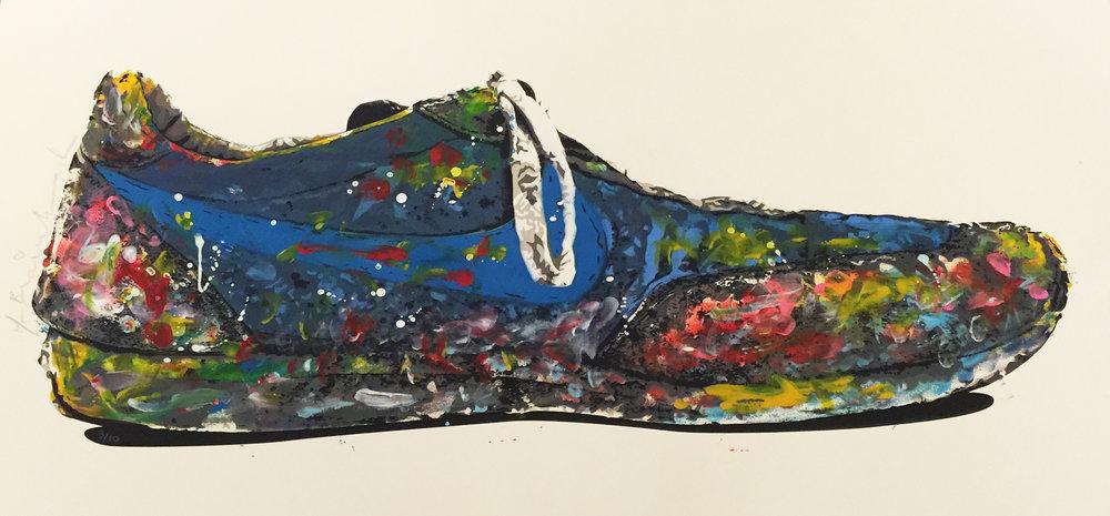 """Blue Shoe 22"""" x 30"""""""