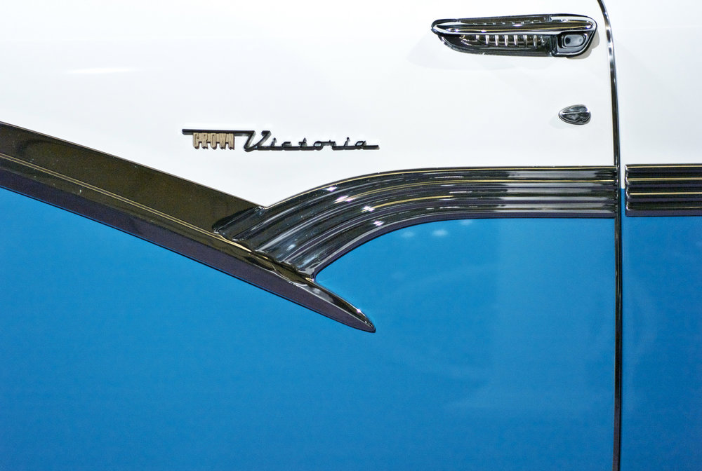 Blue Ford Victoria
